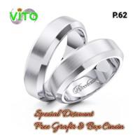 Cincin Tunangan Couple Sepasang Perak P.62