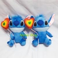 Boneka Stitch Balon Love Yelpo Halus