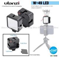 ULANZI W49 Mini LED Portable VIdeo Lighting Lampu Studio Foto DSLR HP