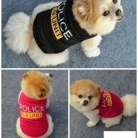 Baju Anjing Kucing Model Rompi Polisi K9 Size. L
