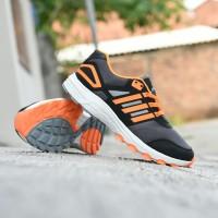Sepatu Adidas Tracker Adinova Sport Running Outdoor Pria Hitam Orange