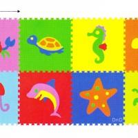 Matras Puzzle Evamat / Karpet / Alas Lantai - Gambar Hewan Laut Ikan