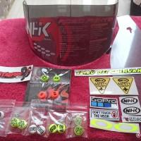 flat visor Nhk Rx9 Dark paket pinlock