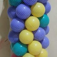 Bola Plastik untuk mandi bola Import Quality Logo CE isi 100pcs