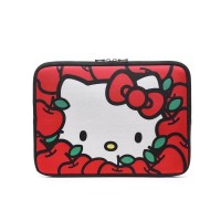 Tas Sarung Laptop Sleeve Softcase Hello Kitty Neoprene 14 inch - Red