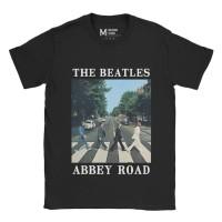 Baju Kaos Band The Beatles Abbey - Black