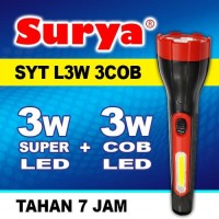 Senter lampu LED Surya L3W 3 COB