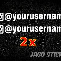 Cutting Sticker / Stiker Visor / Kaca Mobil Nama Instagram Toko Online