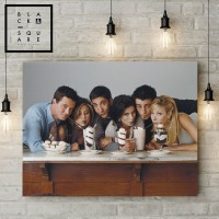 Walldecor Premium Poster Wooden Frame - RARE - FRIENDS TV Series - A2