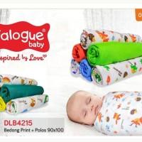 (3pcs) DIALOGUE Bedong katun print 90*110cm SNI perlengkapan bayi