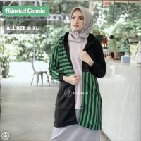 Hijacket Ghania Original Green / Jaket Musiim Dingin / Gamis Syari
