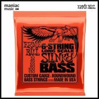 Ernie Ball 2838 (Senar Bass Electric, 6 String, 032 Long Scale Slinky)