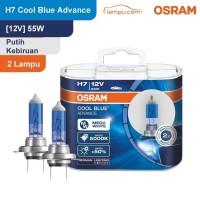 Osram Lampu Mobil H7 Cool Blue Advance 12V 55W - 62210CBA - Biru