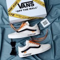 Sepatu OFF-WHITE x Vans Old Skool Virgil Abloh White Original Premium