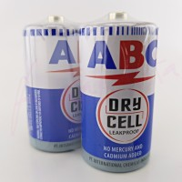 Baterai Size C LR14 ukuran sedang 1,5 V ABC Biru Dry Cell Leakproof