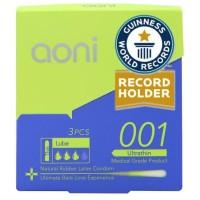 Aoni Kondom Latex Tertipis di Dunia - Ultra Thin 001 (3 Pcs Pack)