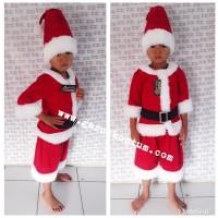 Kostum anak santa claus ( sinterklas ) setelan anak lucu