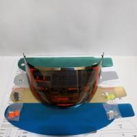 paket kaca helm flat-visor +tear off + post pnp kyt r10, kyt rc7 mds
