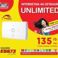 Mifi Modem Wifi Router 4G UNLOCK Huawei E5673 Free INDOSAT UNLIMITED