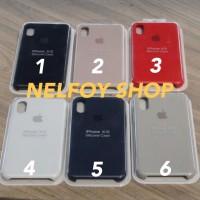 IPhone XS Silicone Case Cover Hard Original Design Casing Hardcase
