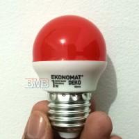 MERAH EKONOMAT Lampu Tidur LED 1 watt Bulb E27 1watt 1w