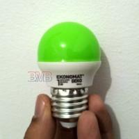 HIJAU EKONOMAT Lampu Tidur LED 1 watt Bulb E27 1watt 1w