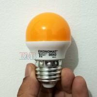 KUNING EKONOMAT Lampu Tidur LED 1 watt Bulb E27 1watt 1w