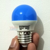 BIRU EKONOMAT Lampu Tidur LED 1 watt Bulb E27 1watt 1w