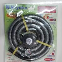 PROMO MURAH MIYAKO RMS206M Paket Selang Regulator Gas destec