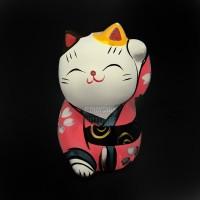 Patung Kucing Hoki Keberuntungan Mini Maneki Neko FS181219G