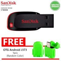 Flashdisk Sandisk Cruzer Blade 8GB BONUS OTG C117 Flasdisk Flash Disk