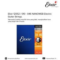 Elixir 12052 / 010 - 046 NANOWEB Electric Guitar Strings