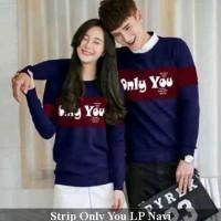 strip only you lp | sweater couple | sweater pasangan | kado pacar