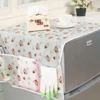 Penutup Kulkas Meja Dengan 6 Kantong Multifungsi Cover Sarung Dapur