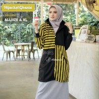 Hijacket Ghania Original Yellow / Jaket Musiim Dingin / Gamis Syari