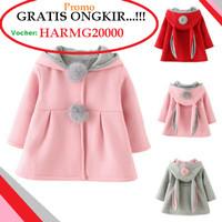 Jaket Kelinci Hoodie Bayi Anak Perempuan Jacket Sweater Rabbit Lucu
