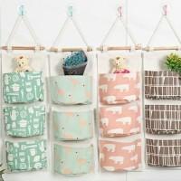 DP Pouch gantung 3 sekat hanging storage bag
