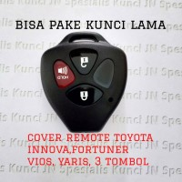 Cover remote Toyota innova,fortuner,altis,vios,yaris,3 tombol