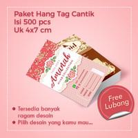Hang Tag Label Baju 500 pcs