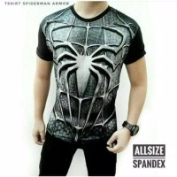 Baju kaos SPIDERMAN 3D kaos superhero distro pria (SPI ABU)