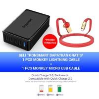 Tronsmart 5-port USB Charger [quick charge 3.0] u5pta - Hitam