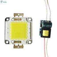 Drive Power Supply Komponen Lampu LED 100W 50/60Hz Warna Putih