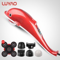 Luyao 6In1 Listrik Dolphin Handheld Massager Getaran Inframerah