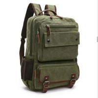 ransel kanvas backpack hijau army