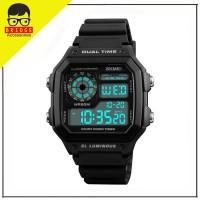 SKMEI 1299 Jam Tangan Pria Sport Digital Led Day Date Anti Air 50M - Hitam