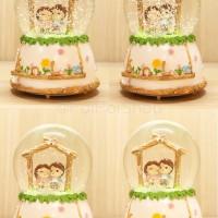 Snow Globe Kotak Musik Music Box Kristal Crystal Ball Couple Teduh
