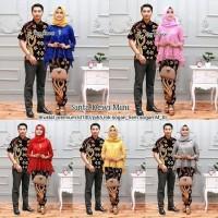 Baju Couple Batik Sarimbit Kebaya Dewi Mini Kemeja Lengan Pendek