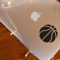 Decal Sticker Macbook Stiker Minimalis Bola Basket Laptop
