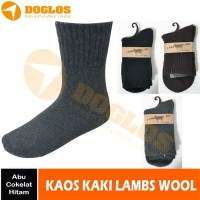 Kaos kaki lambs wool gunung hiking traveling sock angeetttttt