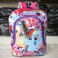 Tas Ransel Pony Pink Anak Cewek Playgroup TK SD Piknik Motif Lucu